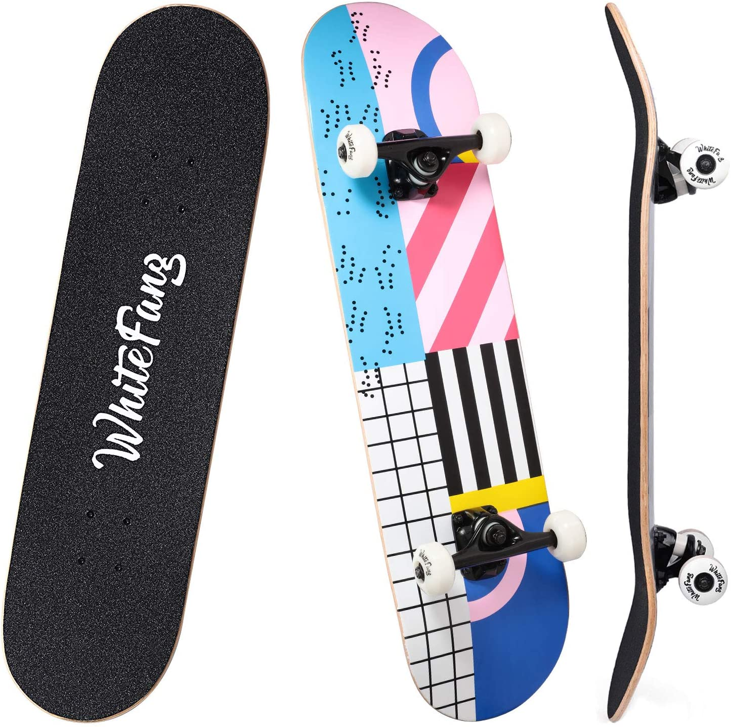 WhiteFang Skateboards Complete Skateboard for Kids