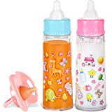 Exquisite Buggy My Sweet Baby Disappearing Magic Bottles - Includes 1 Milk, 1 Juice Bottle with Pacifier for Baby Doll (Color