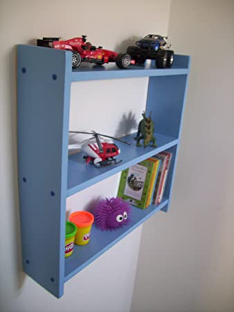 Woodiquechic 60cm Royal Blue Shelving, Kids Bedroom Shelf, Boys Bedroom  Shelves, Kids Shelves