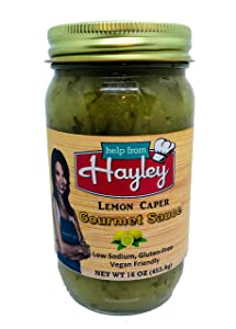Lemon Caper Sauce by Help from Hayley- Piccata Sauce, low sodium, low fat, vegan friendly, gluten free