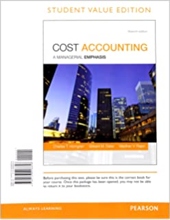 Amazon cost accounting student value edition 15th edition cost accounting student value edition plus myaccountinglab with pearson etext access card package fandeluxe Images