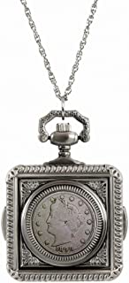 product image for American Coin Treasures 1800's Liberty Nickel Coin Pocket Watch Coin Pendant Necklace