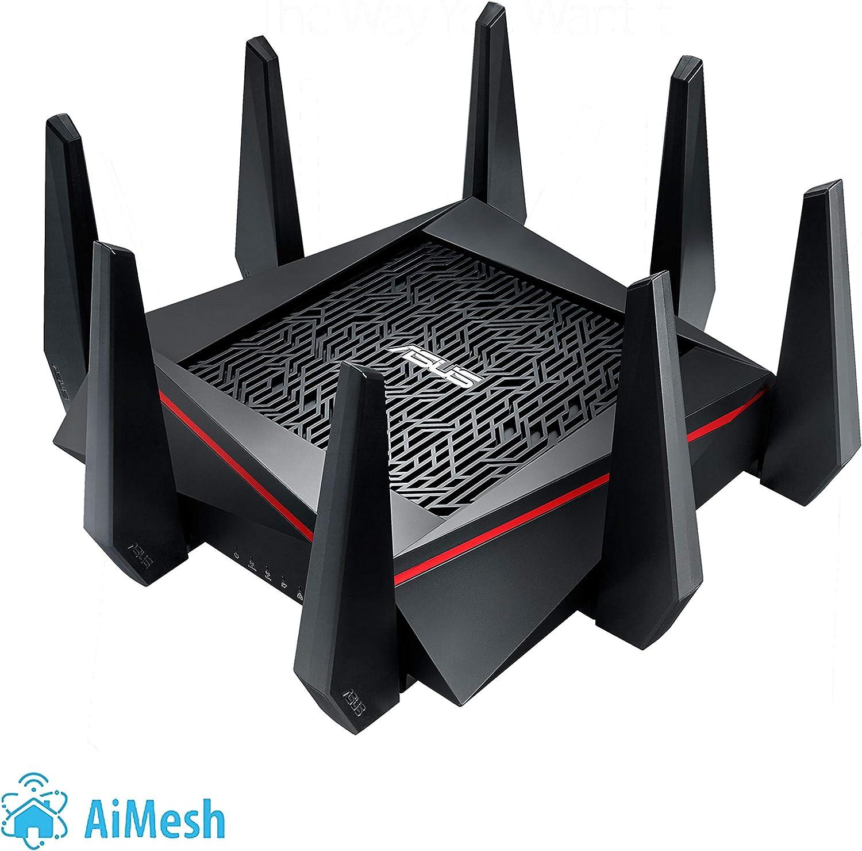 ASUS RT-AC5300 - Router Gaming AC5300 Tri-Banda Gigabit (triple VLAN, Ai-Mesh soportado, WTFast acelerador de juegos, compatible con DD-WRT y con Ai Mesh wifi)