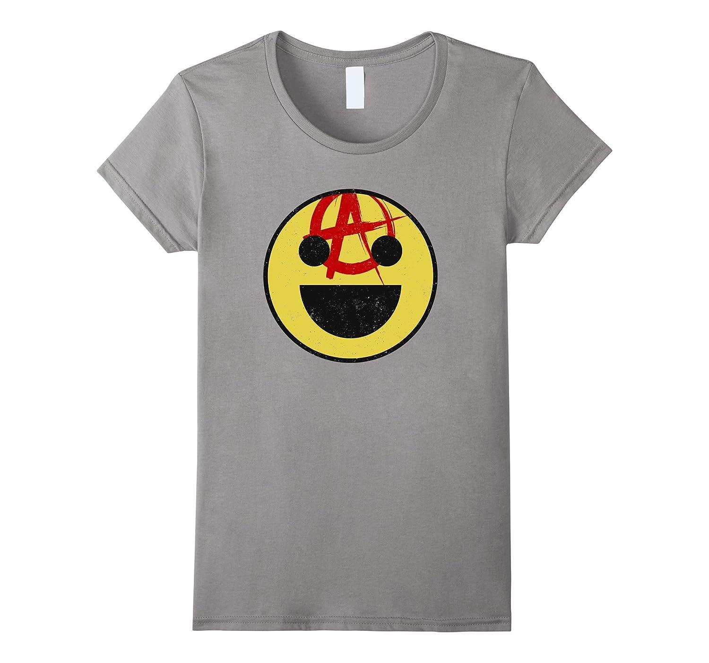 ANARCHY SMILEY FACE T-SHIRT cute emoji tshirt emoticon tee