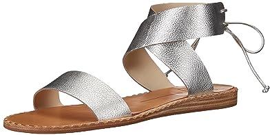 562bc7fa9fb Dolce Vita Women s Pomona Flat Sandal Silver Leather 6 ...