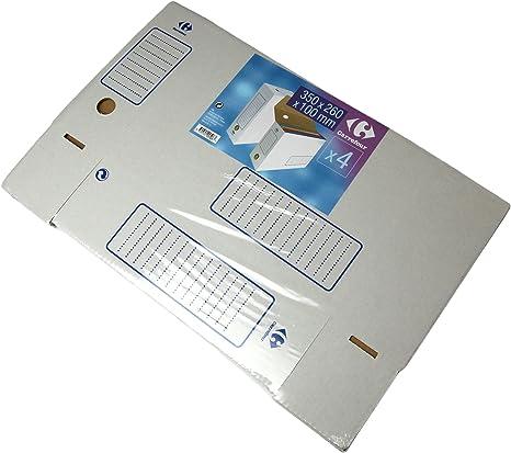 Carrefour 3390502995087 Caja de cartón Blanco archivador ...