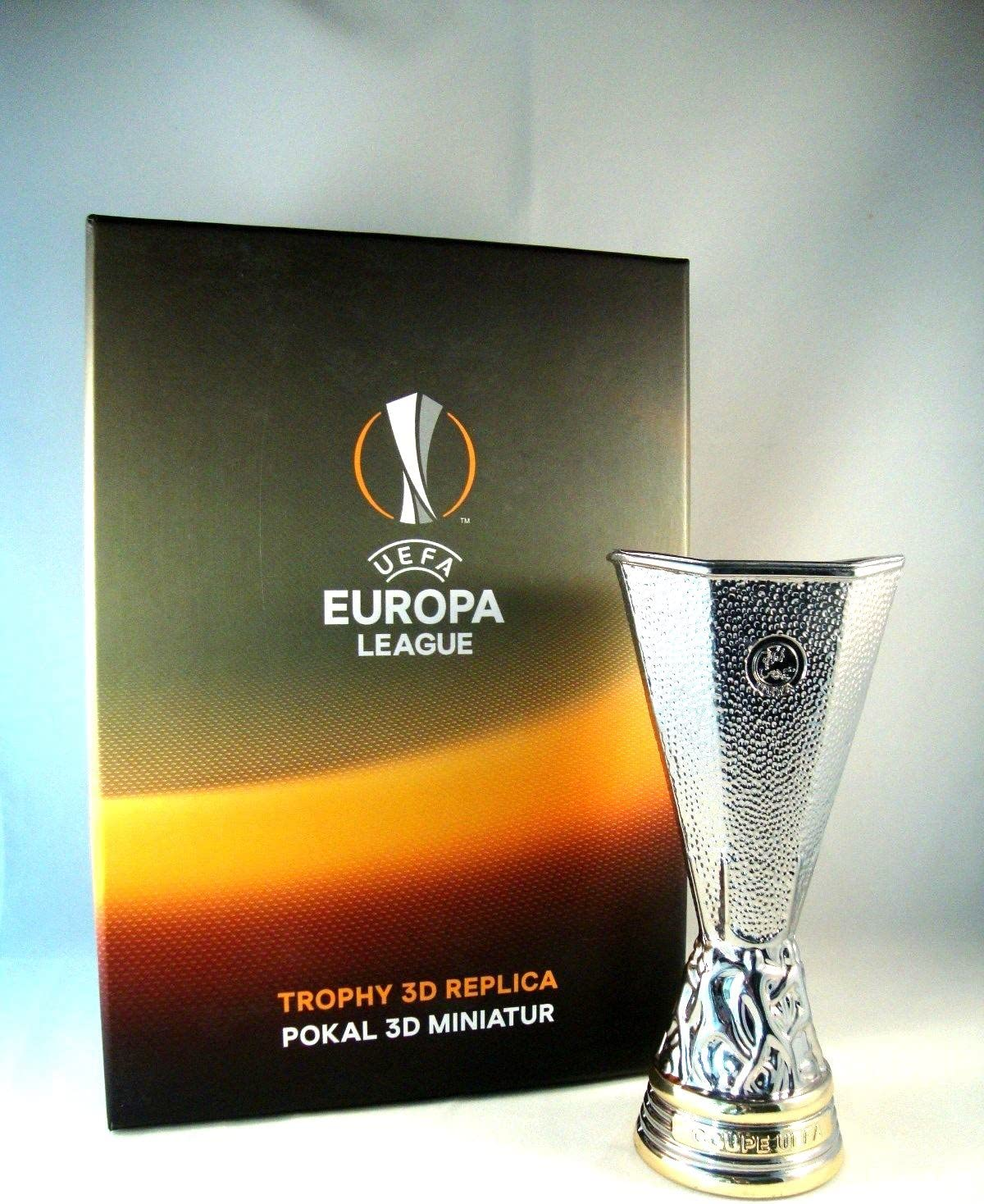 uefa europa league trophy 150 mm amazon co uk sports outdoors uefa europa league trophy 150 mm