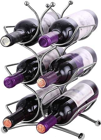 ESTANTE DE ACERO INOXIDABLE PARA VINOS: Nuestro sostenedor de alta calidad para vinos esta hecho de