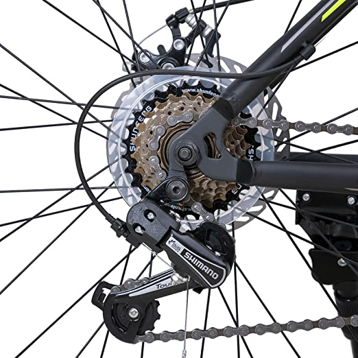 "2019 inSPORTline 21 Speed Mountain Bike Disc-brake front fork Men Bicycle With Steel Frame Aluminum Rim Kreativ Ride 26/"""