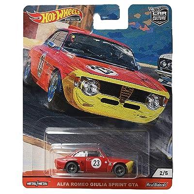 Hot Wheels Car Culture Door Slammers Alfa Romeo Giulia Sprint GTA 2/5, red: Toys & Games