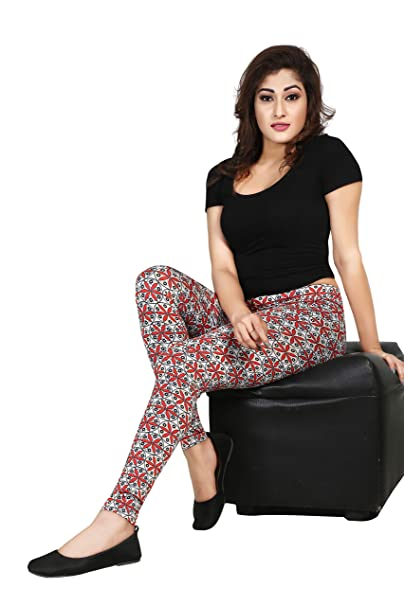 2bd90d6159c79 Dream Girl's Printed Cotton Leggings for Girls in Ankle Length: Amazon.in:  Clothing & Accessories