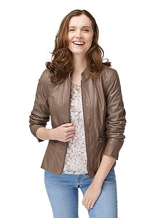 authentisch Sonderrabatt lebendig und großartig im Stil Bonita Damen Trendige Kunstlederjacke: Amazon.de: Bekleidung