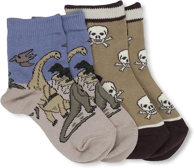 Country Kids Baby Boys Triassic Skull 2 Pair Socks
