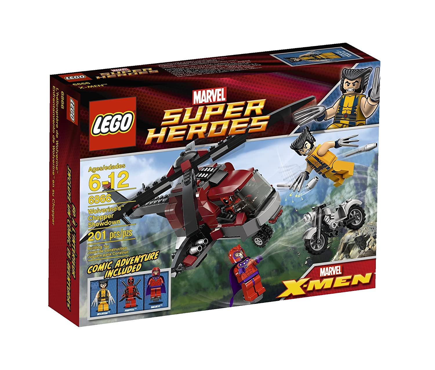 LEGO Superheroes 4654654 Discontinued by manufacturer LEGO Wolverine Chopper Showdown 6866