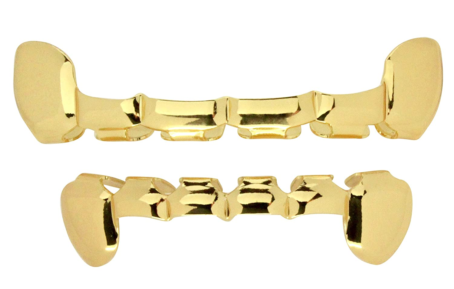 Half Cut Grillz 14k Gold Plated Top & Bottom Grill Slim Teeth Hip Hop Grills 99