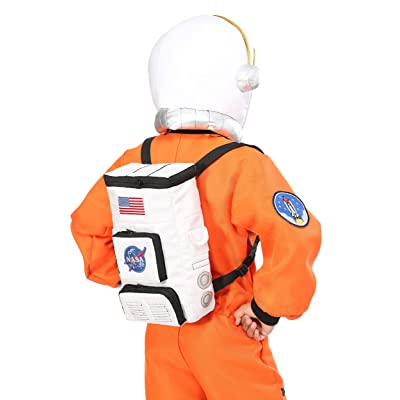 Fun Costumes Child Astronaut Backpack Standard White: Clothing