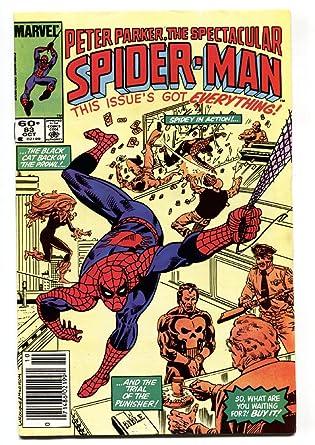 Amazon Com Spectacular Spider Man 83 Black Cat Punisher