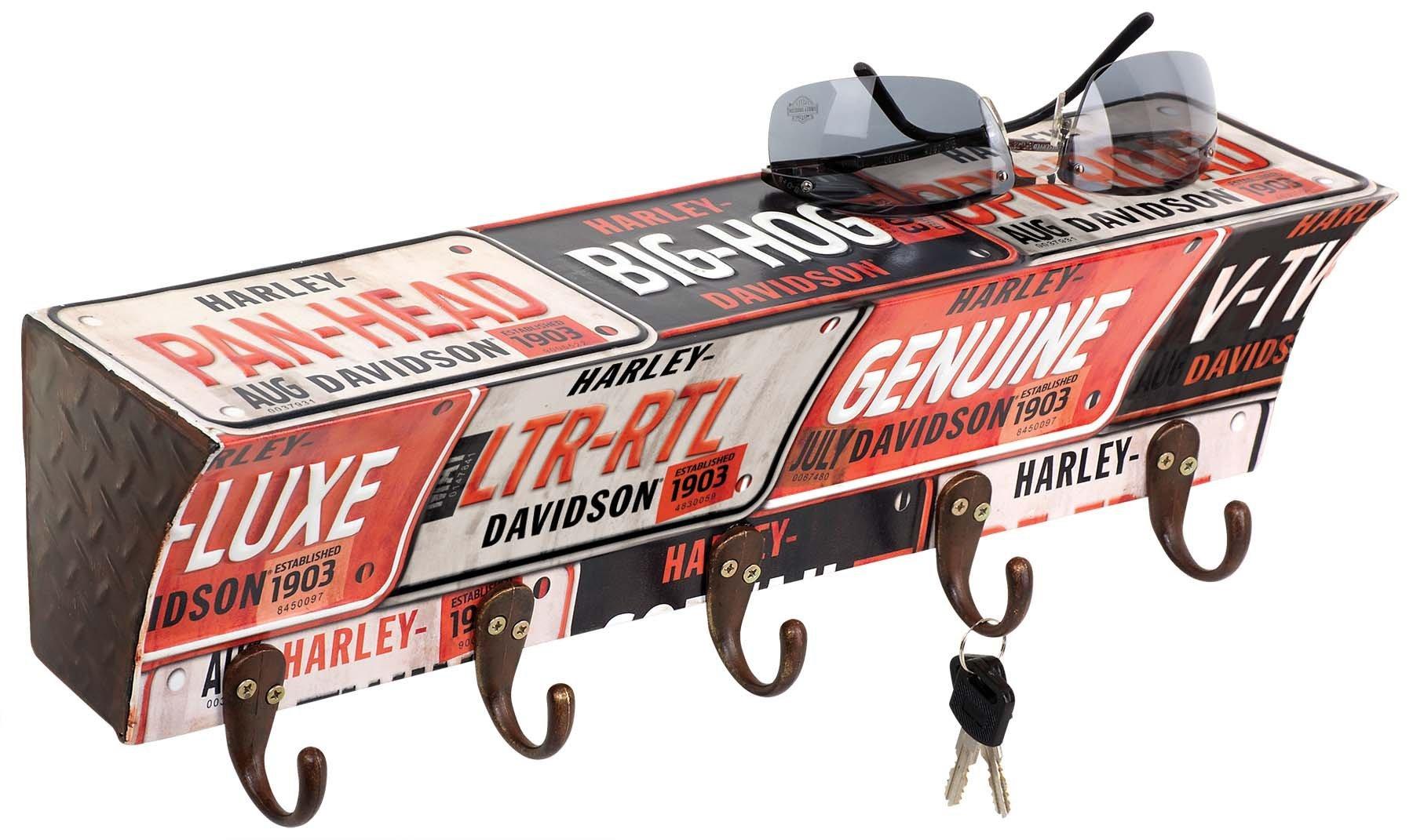 Harley-Davidson License Plate Key Rack | 5 Hooks