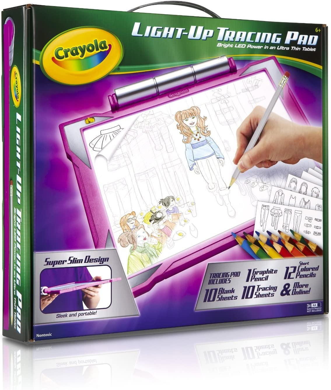 Crayola Light Up Tracing Pad Pink. Portable, Drawing, Projector ...