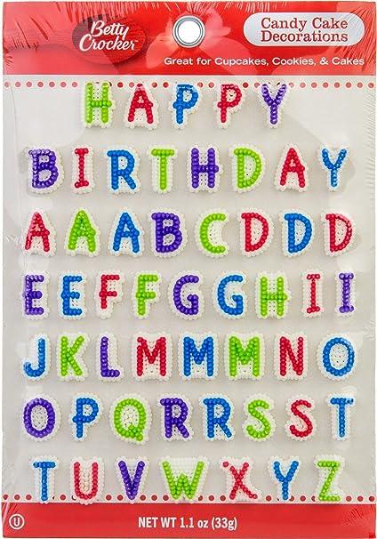 Pleasant Amazon Com Betty Crocker Happy Birthday Candy Cake Decorations Funny Birthday Cards Online Elaedamsfinfo