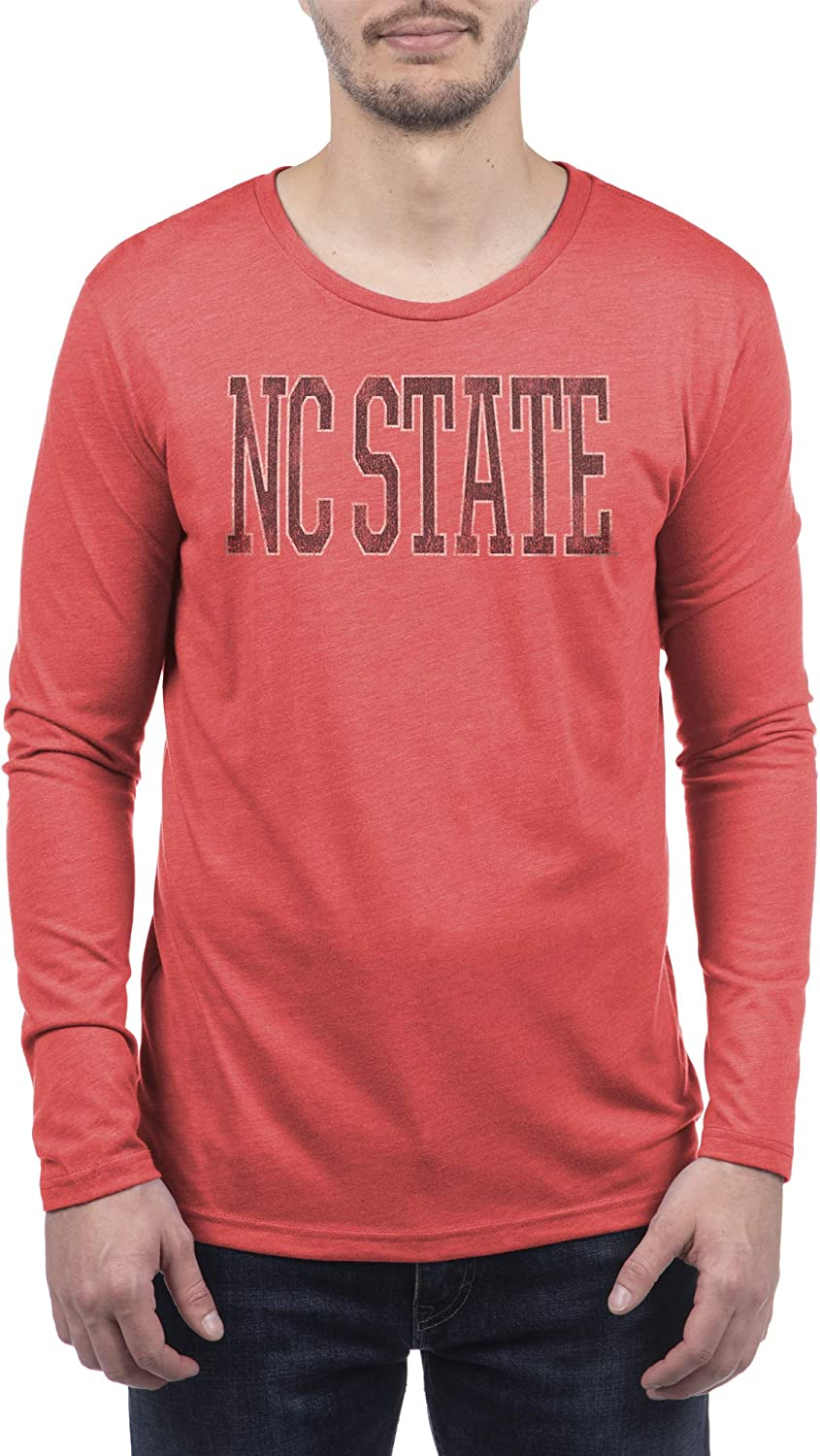 Top of the World NCAA Mens Tri-Blend Long Sleeve Team Color Distressed Icon Tee