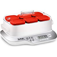 Tefal Multidelices Express YG660120 - Yogurtera eléctrica con 5 programas y función Exprés de 4 horas, incluye 6 vasos…