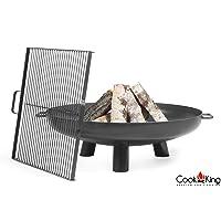 Bali CookKing Feuerschale schwarz XXL ✔ rund ✔ tragbar ✔ Grillen mit Holzkohle