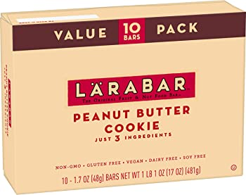 10-Count Larabar 1.7 oz Peanut Butter Cookie Gluten Free Bar
