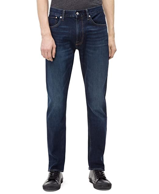 details for enjoy discount price street price Calvin Klein Men's Athletic Taper Fit Jeans