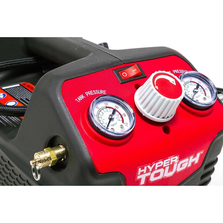 Hyper Tough HT031701C 0.5-Gallon Inflator 120-Volt Air Compressor - - Amazon.com