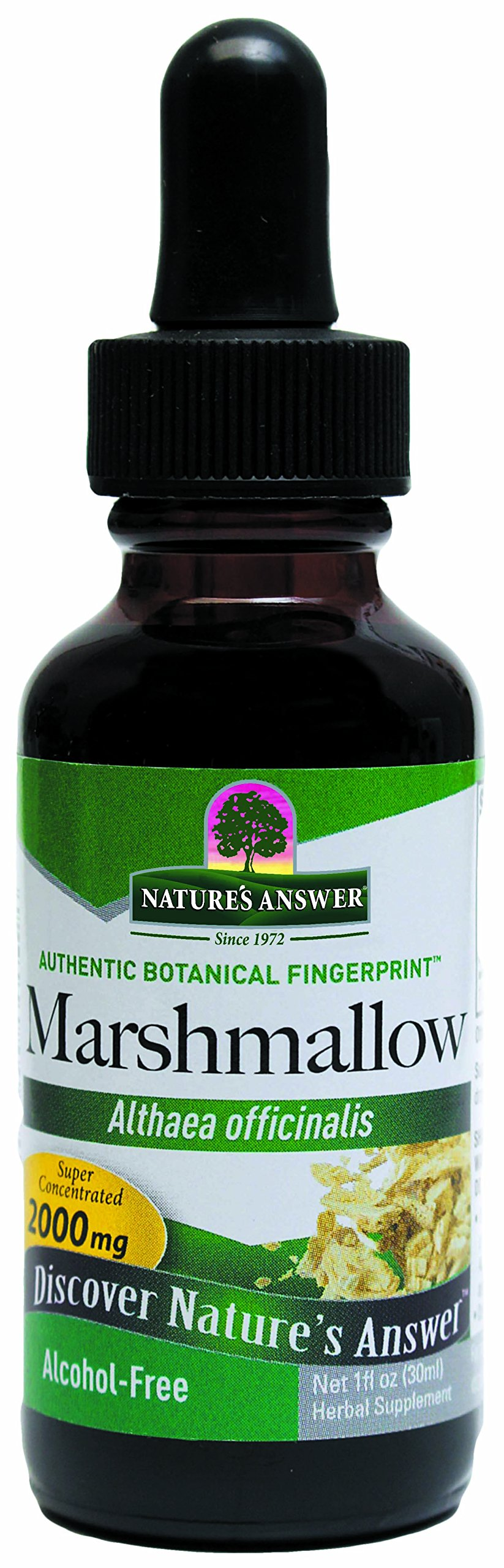 Nature's Answer Alcohol-Free Marshmallow Root, 1-Fluid Ounce