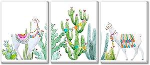 Texture of Dreams Baby Llama Art Prints, Baby Room Design, Canvas Wall Decor, 3-Pack Set (12