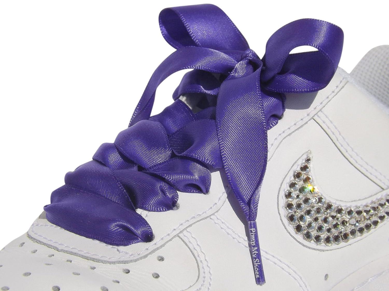 Amazon.com: Purple Flat Shoelaces, Shoe Laces for Kids, Youths & Women's  Nike Air Force 1 Low & Mids: Shoes