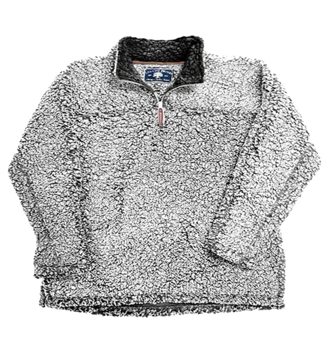 Live Oak Quarter Zip Pullover Fleece-Grey/Charcoal-small