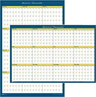 "product image for House of Doolittle 12-Month Laminated Wall Planner, 36"" x 24"", Undated"