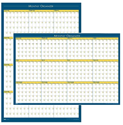 amazon com house of doolittle 12 month laminated wall planner 36