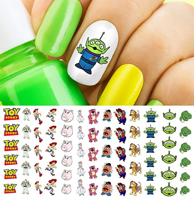 Toy Story 4 Woody & Buzz Lightyear Waterslide Nail Art Decals - Salon Quality Disney