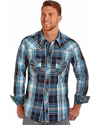 68320e0e Rock and Roll Cowboy Mens Long Sleeve Snap B2S4103 at Amazon Men's Clothing  store: