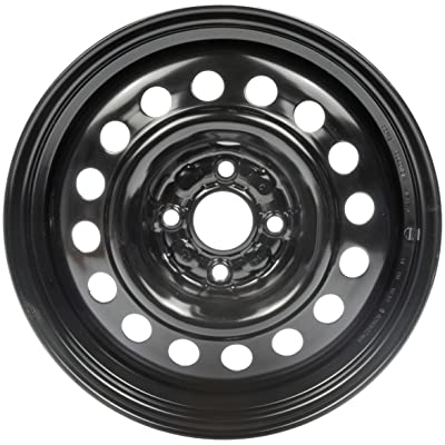 "Dorman Steel Wheel with Black Painted Finish (15x6""/4x100mm): Automotive"