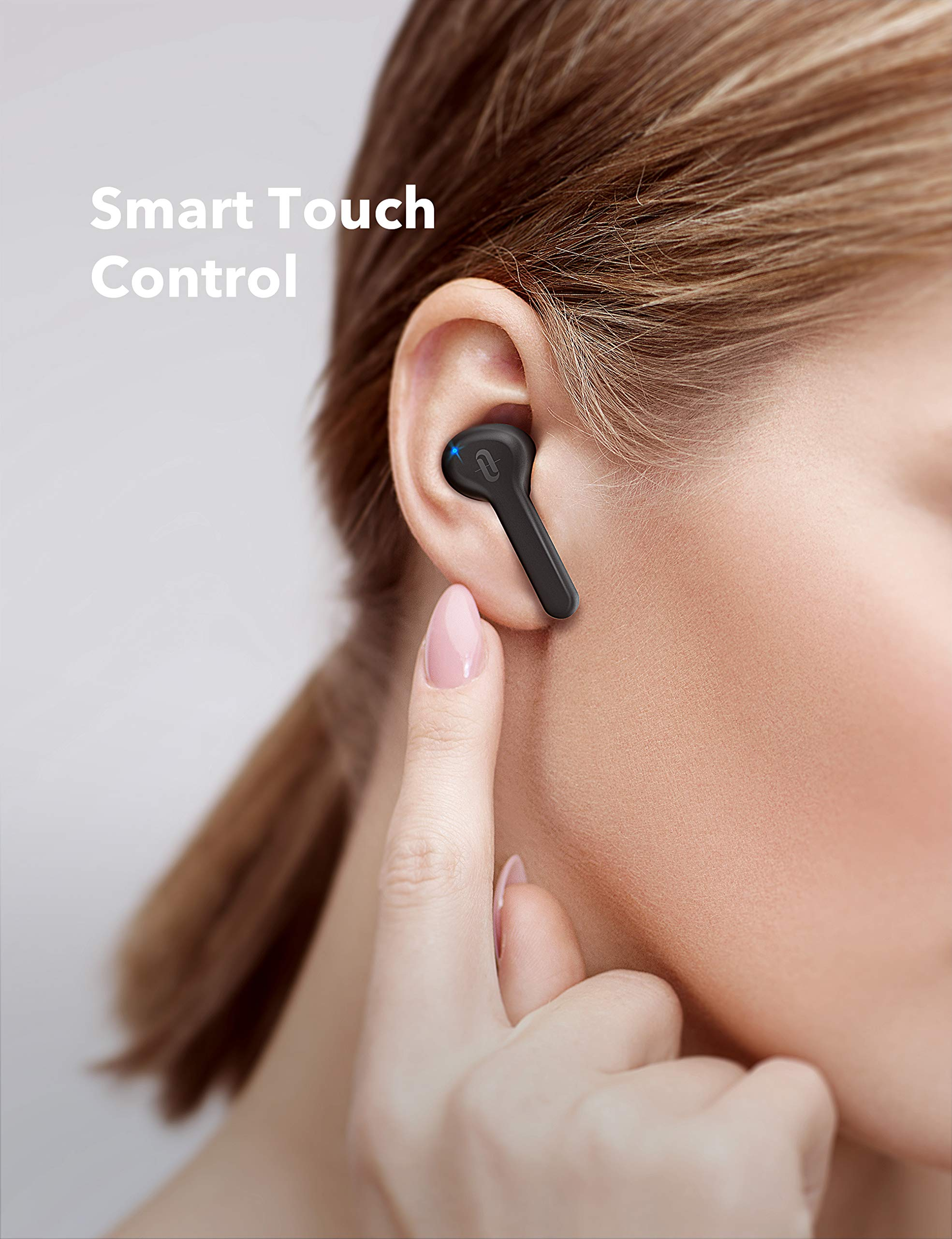Wireless Earbuds, TaoTronics Bluetooth 5.0 Headphones SoundLiberty 53 in-Ear Earphones IPX7 Waterproof Smart Touch Control Bluetooth Earbuds Single/Twin Mode with Built-in Mic 40 H Playtime TT-BH053 by TaoTronics (Image #2)