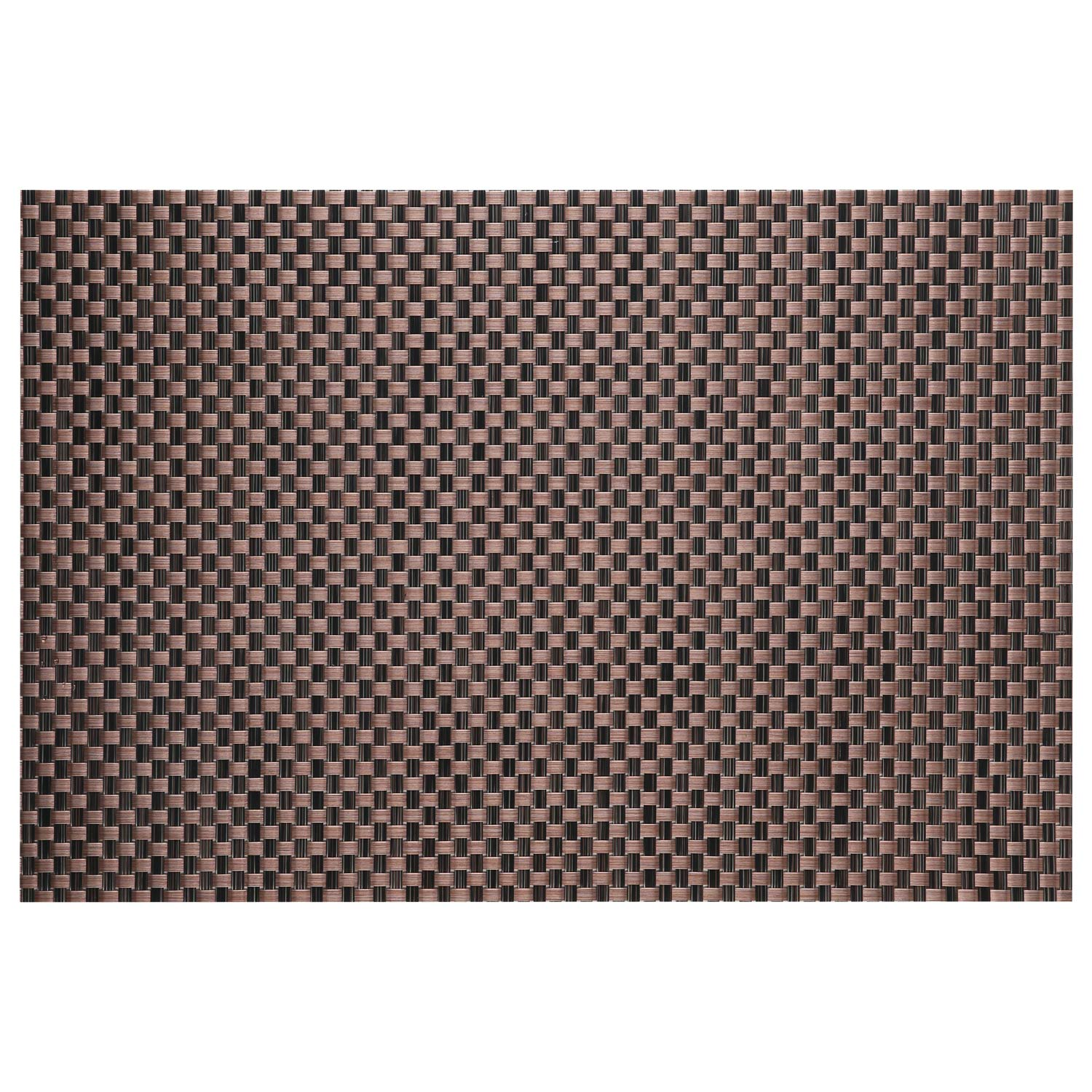 Top Finel Table Mats Sets Crossweave PVC Washable Stain Resistant Durable Dining Table Outdoor,Brown,Set of 8 by Top Finel (Image #2)