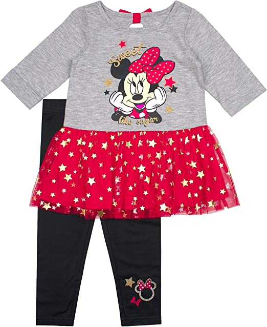 Disney Girls Minnie Mouse 2-Piece Legging Set