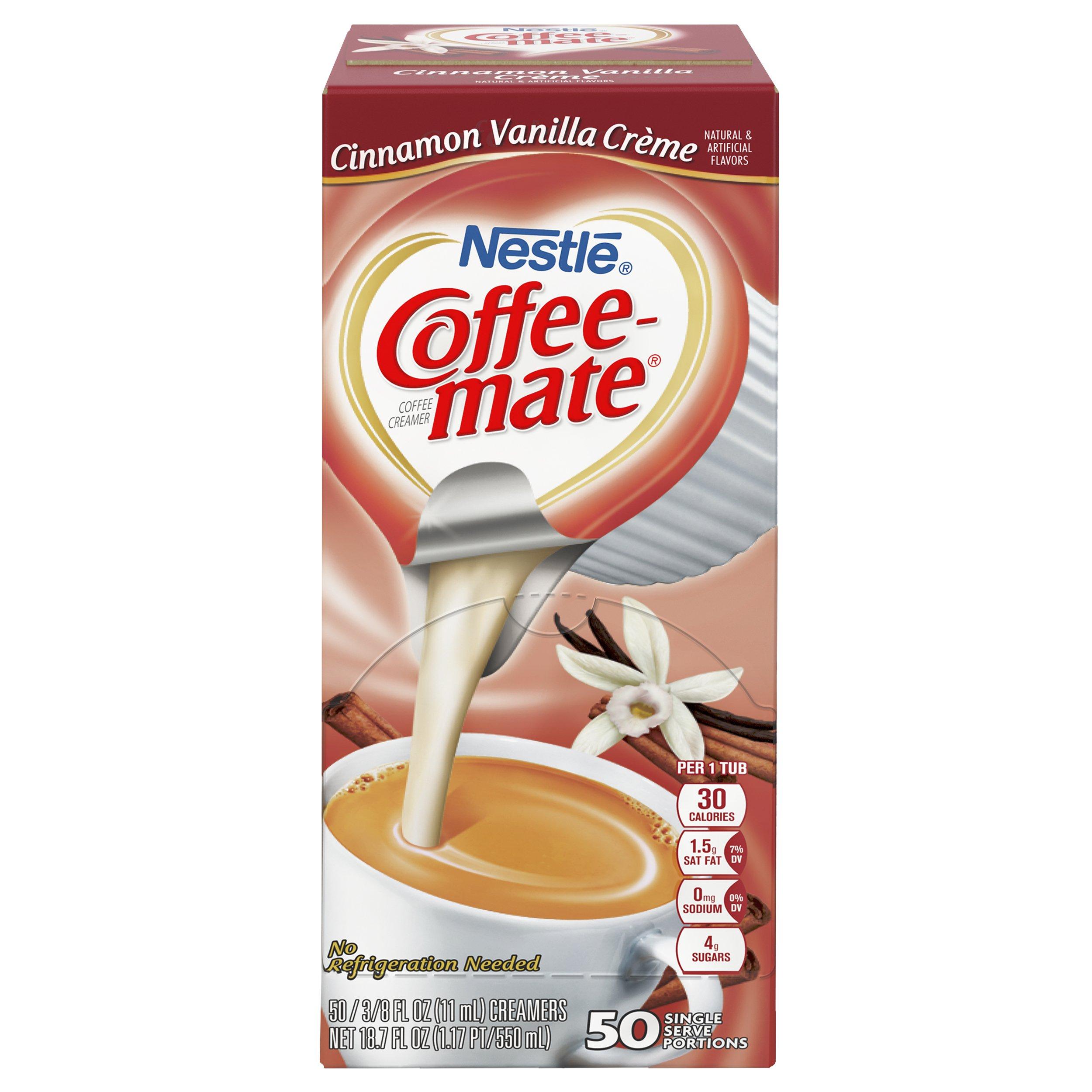 NESTLE COFFEE-MATE Coffee Creamer, Cinnamon Vanilla Creme, 0.375oz liquid creamer singles, 50 Per Box (Case of 4 Boxes) by Nestle Coffee Mate (Image #2)