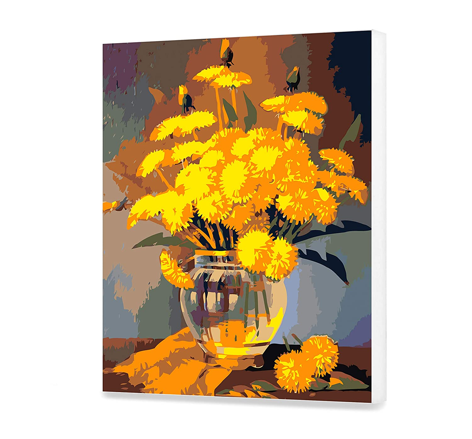 Dandelions Paint on Canvas HandMade Still Life DIY Set Painting by Numbers Floral Picture with Unique Design Flowers Paint by Numbers Best Gift for Adult