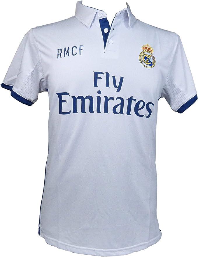Replica AUTORIZADA Real Madrid- Camiseta 1ª Equipación Adulto 2016-2017, Cristiano Ronaldo- Talla L: Amazon.es: Deportes y aire libre