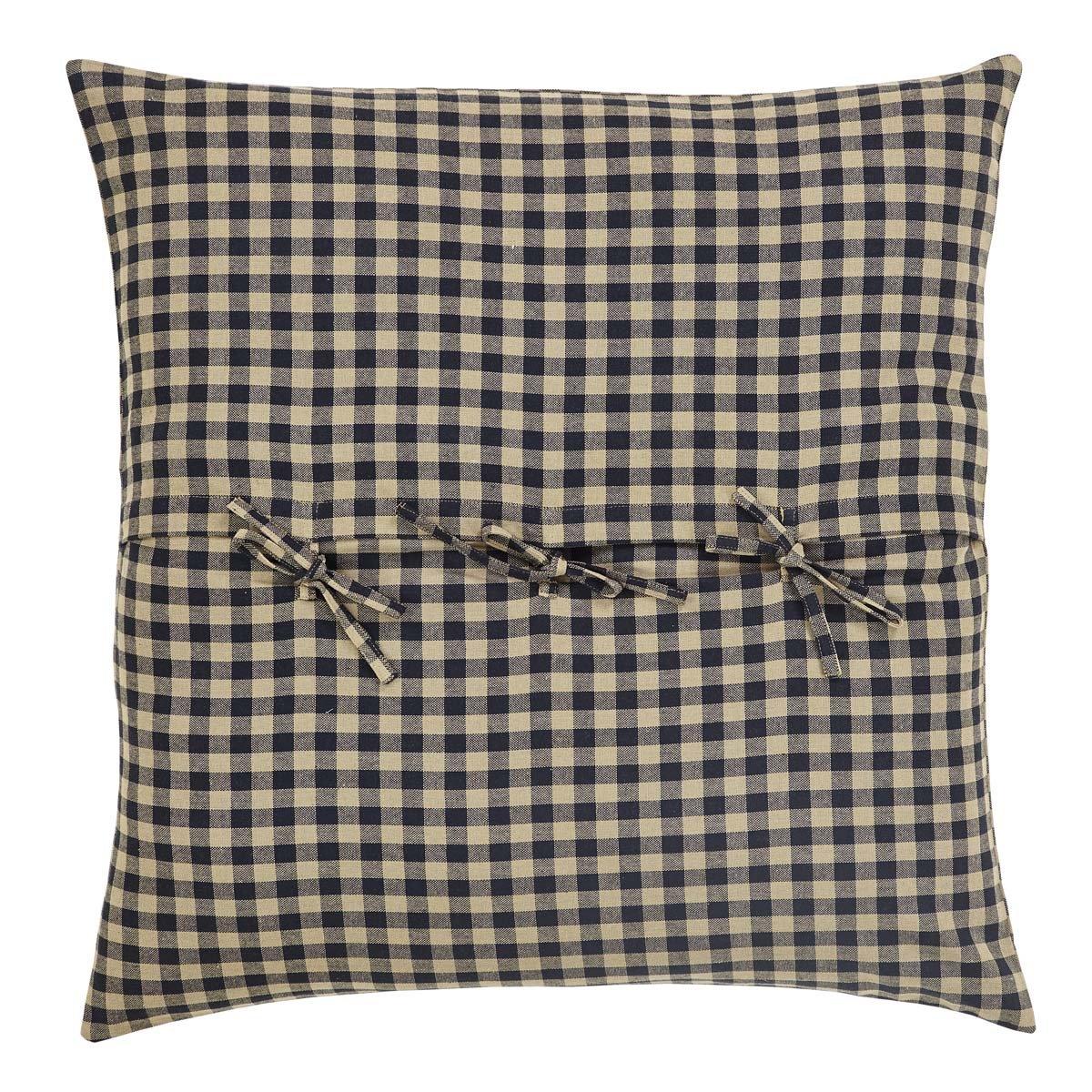 VHC Brands Navy Check Euro Checkered Cotton Sham in Blue