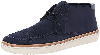 Mens Calvin Klein Jake Sneakers Dark Blue Suede/Canvas TRL22314