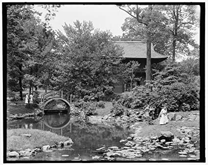 8 X 10 Reprinted Old Photo Of Japanese Garden Fairmount Park Philadelphia  Pa. 1900 Detriot