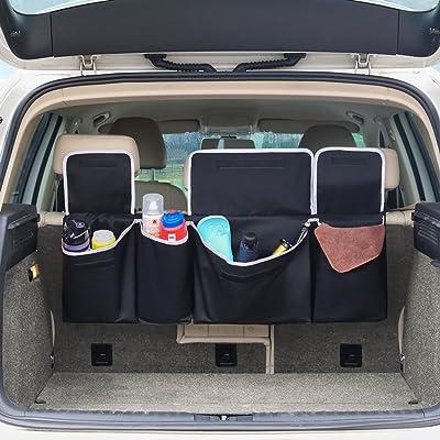 Barbarians Car Seat Back Organizer, Backseat Organizer Storage Bag for Truck, SUV, Van, Cargo with Adjustable Straps Black: Automotive