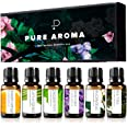 Essential Oils by PURE AROMA 100% Pure Therapeutic Grade Oils kit- Top 6 Aromatherapy Oils Gift Set-6 Pack, 10ML(Eucalyptus,